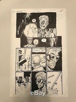 Original Preacher Comic art Steve Dillon, Ennis Cassidy Tulip Jesse AMC