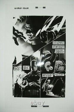 Original Production Art JUSTICE #2 page 14, ALEX ROSS art, 11x17, Batman