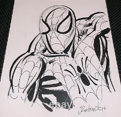 Original Spiderman Art Sketch Joe Rubinstein Comic Book Signed
