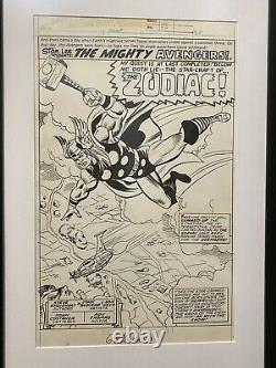 Original Splash Page Thor 1977 Steve Stiles & Mike Esposito Súper Spider Man UK