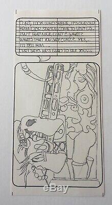 Original VAUGHN BODE Pencils for 6-Page Story, 1971 EX