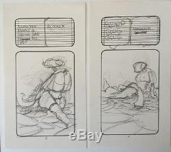 Original VAUGHN BODE Pencils for 6-Page Story, 1972 EX