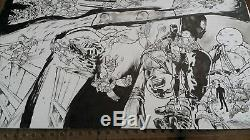 Original art Teenage Mutant Ninja Turtles IDW Issue 23 Double Splash page Comics