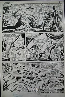 Original art by DON HECK & FRANK GIACOIA for AVENGERS #31, page 4, 1966