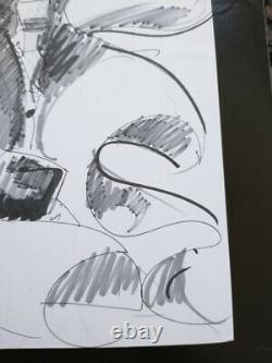 Original art by Mike Deodato Thor Sketch