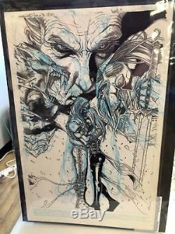 Original art comic cover issue #1 Underworld Rise of the Lycans IDW