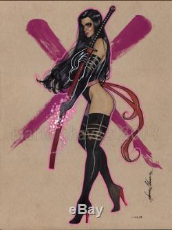 Original, art, mario chavez, pinup, comic book, 9x12 psylocke