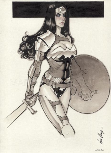 Original, Art, Mario Chavez, Pinup, Comic Book, 9x12wonder Woman