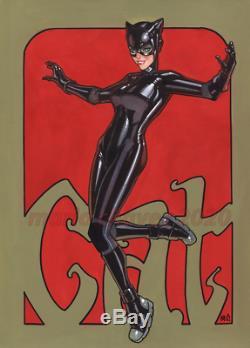 Original, art, mario chavez, pinup, comic book, 9x12catwoman, selina kyle