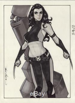 Original, art, mario chavez, pinup, comic book, 9x12x-23