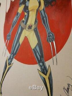 Original, art, mario chavez, pinup, comic book, 9x12x-23, wolverine