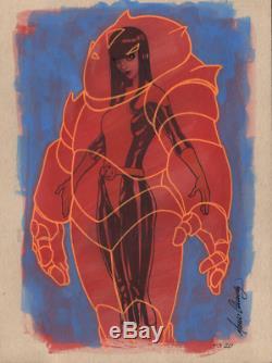 Original, art, mario chavez, pinup, comic book, 9x12xmen, armor