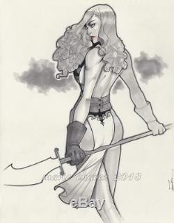 Original, art, mario chavez, pinup, comics, 11x14 inch, sexy