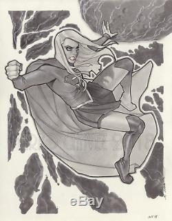 Original, art, mario chavez, pinup, comics, 11x14 inch, supergirl