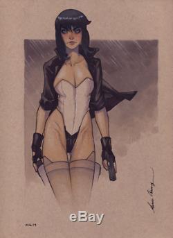 Original, art, mario chavez, pinup, comics, 9x12 inch, sexy, mokoto kusanagi, ghost