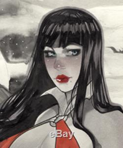 Original, art, mario chavez, pinup, comics, 9x12 inch, vampirella, vampire