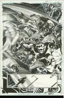 Original comic art. Batman splash page