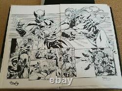 Original comic art. DPS Wolverine vs. Sabertooth