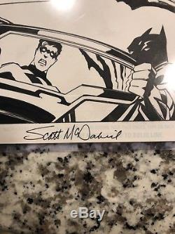 Original comic art interior pages Batman 600 Page 17