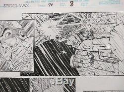 Original comic art page John Romita Jr. Spiderman