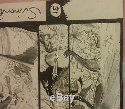 Original comic book page art marvel simon bisley signed thor