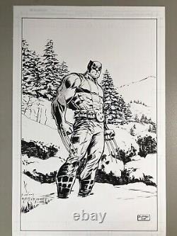 Original drawing of Wolverine by Josh George comic book art Logan Art 11x17 in
