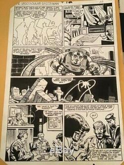 Original page Peter Parker, The Spectacular Spider-Man #72 Hannigan Marvel TIE