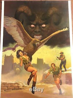 Originalzeichnung Vicente Segrelles Fantasy Öl Gemälde John Sinclair Mercenario