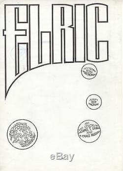 P. CRAIG RUSSELL & MICHAEL T. GILBERT Original ELRIC Splash Page. 1982. SIGNED