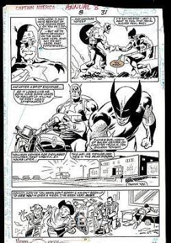 Page 27 Capt America Ann 8 Cap & Wolverine Signed Michael Zeck