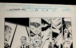 PP SPIDERMAN #96 ORIGINAL Signed Scott Hanna COMIC ART PAGE 19-1990s