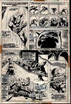 PRIMO BLACK PANTHER 1972 orig art BUCKLER Janson Marvel movie Wakanda vibranium