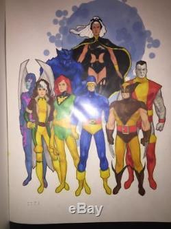 PRIMO Phil NOTO rare original color art featuring 8 different X-MEN on 11x17