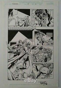 PUNISHER # 13 ALL ACTION! By TOM LYLE original ART PAGE