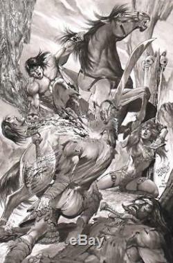 Pablo Marcos Signed-2018 Conan, Red Sonja Splash Original Art! Free Shipping