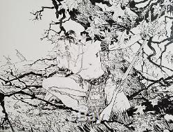 Paul Pope CBLDF $1,000.00 Contribution Level Print with Original Artwork
