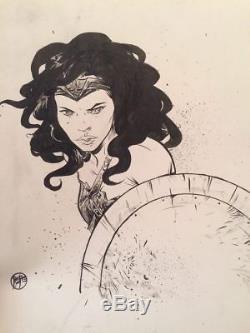 Paul Pope Wonder Woman Original Art Pencil & Ink Drawing Signed THB Battling Boy