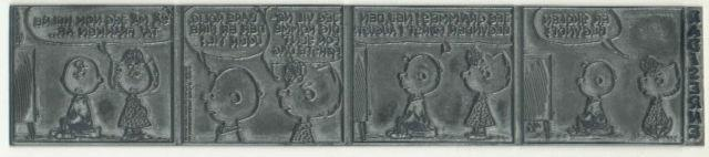 Peanuts Original Comic Metal Printing Plate Charlie Brown'69 Charles Schulz Art