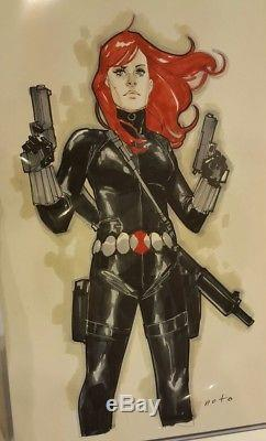 Phil Noto Black Widow Color Drawing! 11x17 Gorgeous! Natasha Romanov