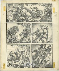 Planet Of The Apes #8 Comic Art Page #13 Artist Mike Ploog 11.5 X 16.5