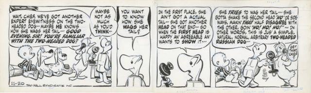 Pogo By Walt Kelly Original Daily Comic Strip 11-20-1965