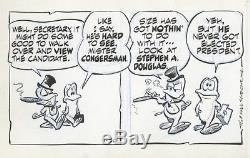 Pogo by Walt Kelly Original Daily Comic Strips (2) 1/29, 1/30 1960