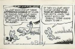 Pogo by Walt Kelly Original Daily Comic Strips (2) 7/25, 7/26 1955
