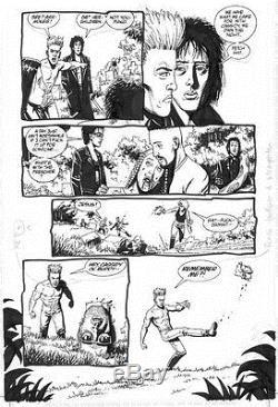 Preacher #33 p3 Original Comic Art Steve Dillon SIGNED by Garth Ennis
