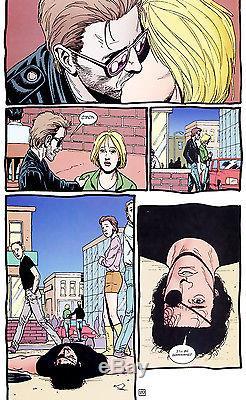 Preacher original art page Steve Dillon Ennis Jesse Custer Tulip Cassidy comic