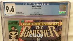 Punisher #1 (1987) CGC 9.6 Marvel Comic White Pages Klaus Janson Cover & Art QTY