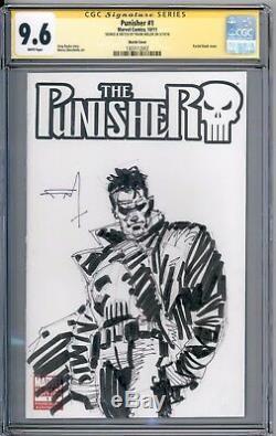 Punisher 1 Blank Cover CGC SS 9.6 Sketch Frank Miller Original Art