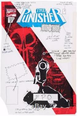 Punisher #100 Marvel 1995 (Original Art) Variant Cover! Frank Teran with Prelimary