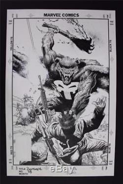 Punisher #78 COVER (Original Art) 1993 Val Mayerik Marvel