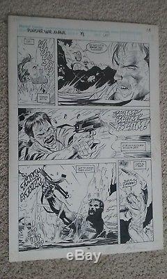 Punisher War Journal #19 pg. 16 Original Comic Art Jim Lee